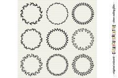 FLORAL MEGA BUNDLE 30 wreath, laurel, heart leaf frames SVG Product Image 3