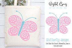 Butterfly SVG / DXF / EPS / PNG files Product Image 1