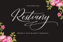 Restiany Script | Sweet Font Product Image 1