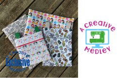 Vinyl Zipper Bag SUPER Set for 4×4 to 9×14.5 in Hoops & Tabs Product Image 5