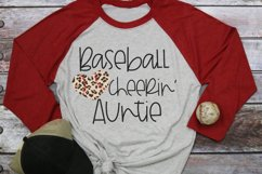Leopard Baseball Heart - Baseball Cheerin' Auntie SVG Product Image 2