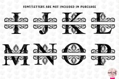 Traditional Split Monogram - Alphabets A to Z EPS SVG DXF Product Image 3