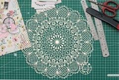 SVG mandala cut file for laser cutting, Cricut, Silhouette. Product Image 3