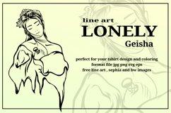 illustration of lonely geisha Product Image 3