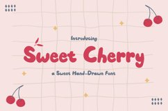 Sweet Cherry - a Sweet Hand-Drawn Font Product Image 1