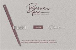 Brown Pen Script Product Image 5