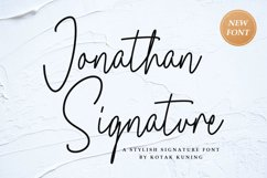 Jonathan Signature Font Product Image 1