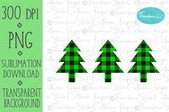 Buffalo Plaid Christmas Tree PNG, Sublimation Design Product Image 1