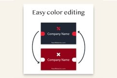 Modern Black Dark Business Card Template Product Image 3