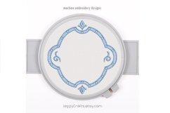 Decorative vintage Victorian oval monogram font border frame Product Image 1