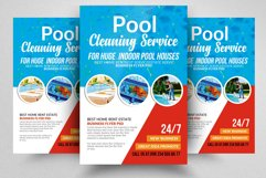 Pool Cleaning Service Flyer Template Product Image 1