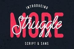 Struggle More - Script & Sans Font / Font Logo Product Image 1