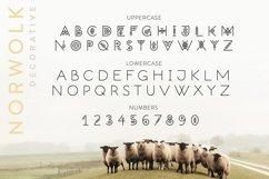 Norwolk - Thin Line Decorative Font Product Image 3