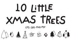 10 Little Xmas Trees Product Image 1