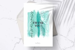 Emerald brush strokes clipart, green watercolor PNG elements Product Image 5