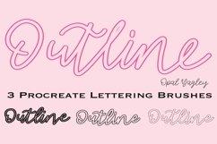 3 Outline Procreate Brushes - Mono Outline Lettering Brush Product Image 1