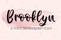 Brooklyn - A Thick Brush Script Product Image 1