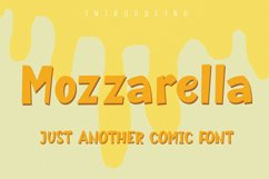 Mozzarella Comic Font Product Image 1