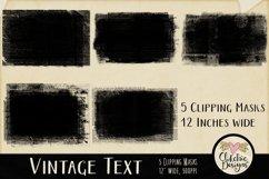 Grunge Clipping Masks - Vintage Text Photoshop Masks & Tutor Product Image 5