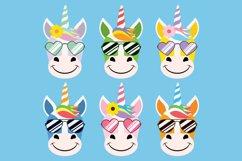 Cute Unicorn Clipart Bundle, Magical Horses, PNG, JPEG, EPS Product Image 5