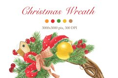 Christmas wreaths clip art #1 Product Image 2