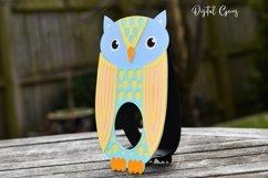 Owl Easter egg holder design SVG / DXF / EPS Product Image 3