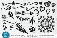 Swirl svg, flourish svg, swoosh svg, swashes svg, squiggle Product Image 1