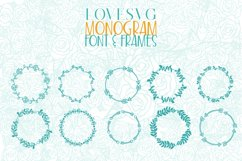 LoveSVG Monogram Font and Frames Product Image 2