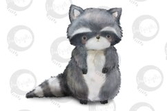 Baby Woodland   5 animal illustrations   PNG/JPEG clip art Product Image 3