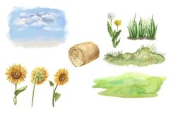 Farm animals watercolor Clipart. Product Image 6