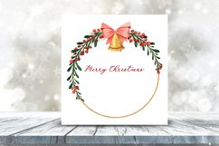 Christmas Watercolor Gold Frames Clipart Product Image 5