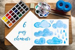 Clouds. Watercolor set. PNG, JPG Product Image 2