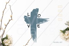 Easter Love Cross SVG Cut File, svg, dxf,eps, png Product Image 2