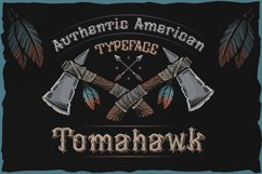 Tomahawk - american authentic font Product Image 1