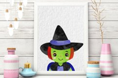 Cute Halloween Girls in Costumes Horror Party Clip Art Product Image 3