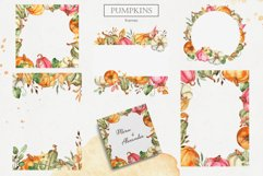 Watercolor Pumpkins. Clipart, cards, seamless patterns Product Image 6