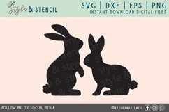 Bunny SVG | Easter | Rabbit Silhouette Product Image 2