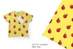 Ladybug Digital Paper. Ladybugs Seamless Pattern Product Image 1