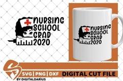 Nursing School Grad 2020 svg, Melanin, Quarantine svg, Grad Product Image 2