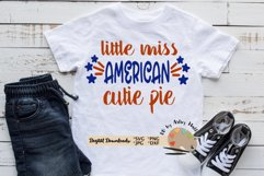 little miss american cutie pie Girl America July 4th svg dxf Product Image 1