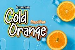 Cold Orange | Playful Font Product Image 1
