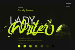Lady Writer Casual Script Font Product Image 1