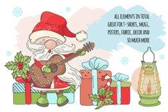 CHRISTMAS SONG New Year Santa Music Clip Art Pattern Vector Product Image 5