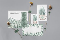 """Watercolor ClipArt """"Home Plants"""" Product Image 6"""