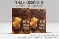 Thanksgiving A4 Flyer & BONUS! Product Image 1