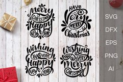 Christmas SVG. New Year SVG. Christmas lettering phrases. Product Image 1