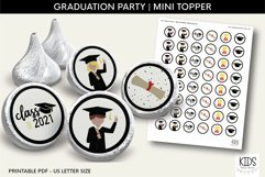 Graduation Kiss Stickers, Class of 2021 Party Favors Product Image 1