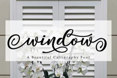 Window Script | A Calligraphy Font Product Image 1