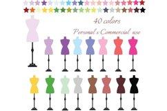 Dress Form Clipart, Dress Form Clip art, Sewing Clip Art Product Image 1