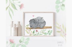 Australian animals clipart. Watercolor mother and baby. Product Image 4